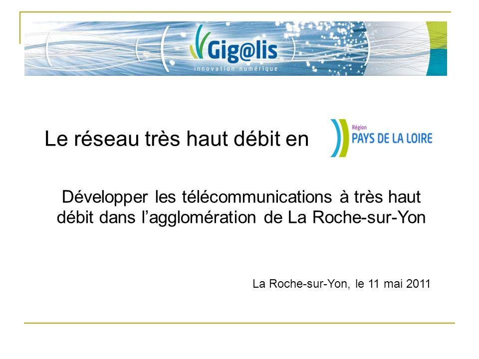 Le réseau très haut débit en La Roche-sur-Yon, le 11 mai 2011 Développer les télécommunications à très haut débit dans lagglomération de La Roche-sur-