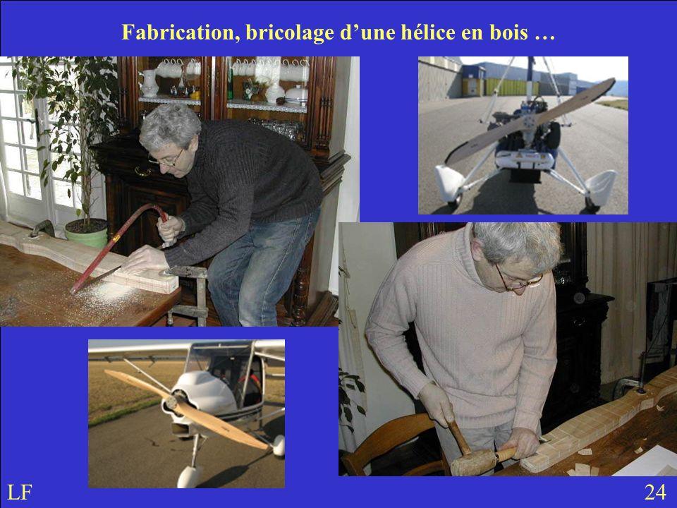 UN PEU DE THÉORIE … LF 24 Fabrication, bricolage dune hélice en bois …