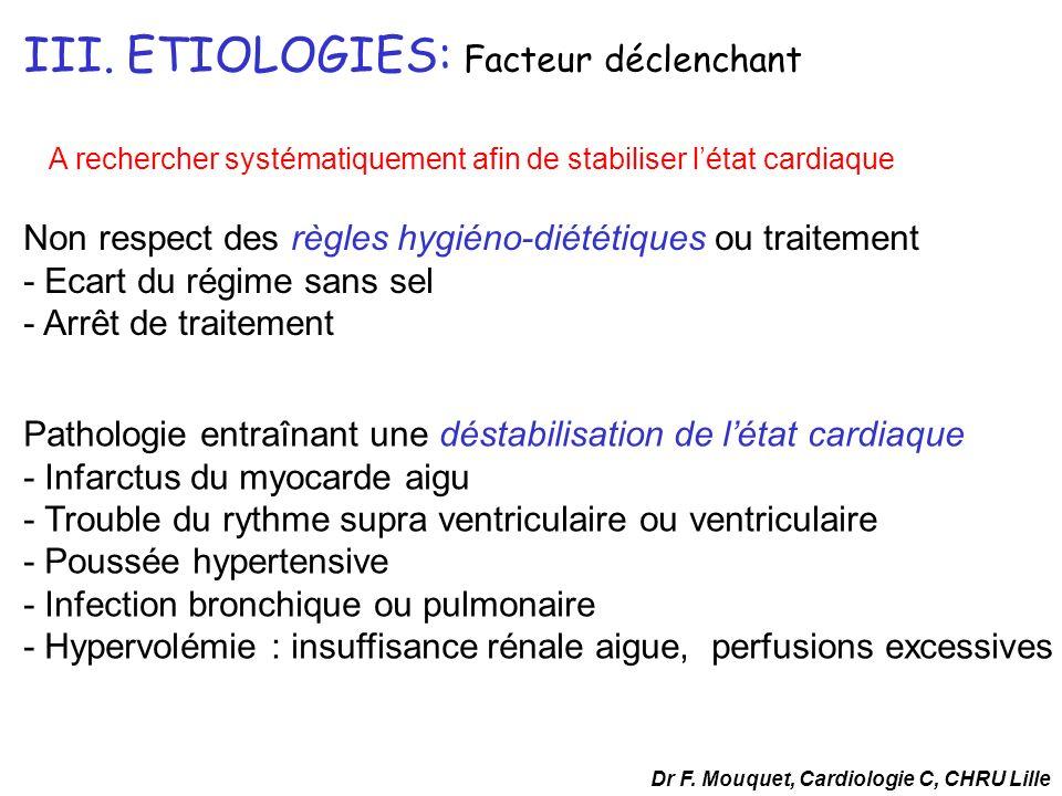 - URGENCE VITALE - PRISE EN CHARGE IMMEDIATE - RECHERCHE FACTEUR DECLENCHANT Dr F.
