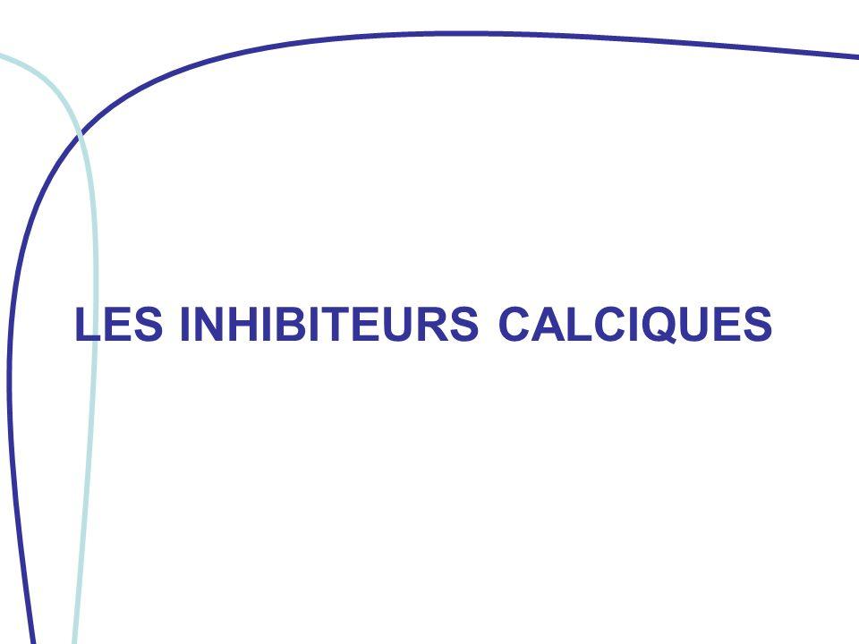 I/ DÉFINITION Les inhibiteurs calciques (ou anticalciques) inhibent lentrée du calcium dans les cellules myocardiques et dans les cellules musculaires lisses des parois artérielles.