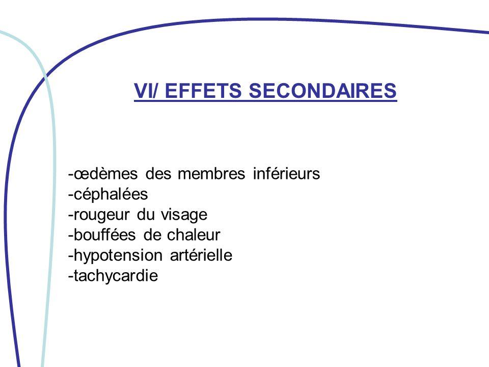 VII/ SOINS INFIRMIERS (1 ère partie) Rechercher des signes dinsuffisance cardiaque si un œdème périphérique apparaît.
