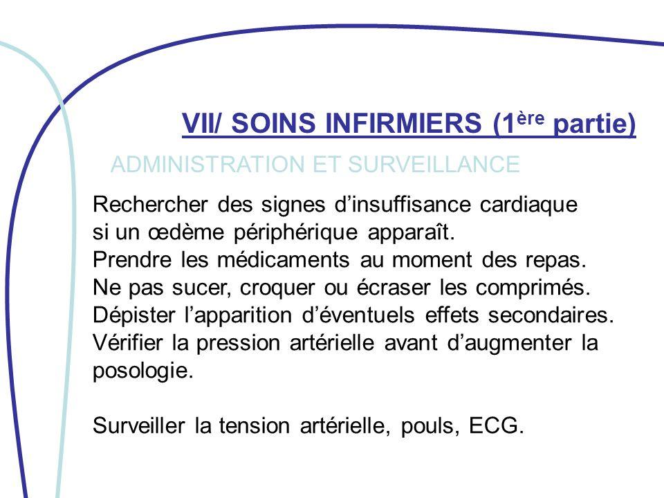 VII/ SOINS INFIRMIERS (2 ème partie) Éviter la consommation dalcool.