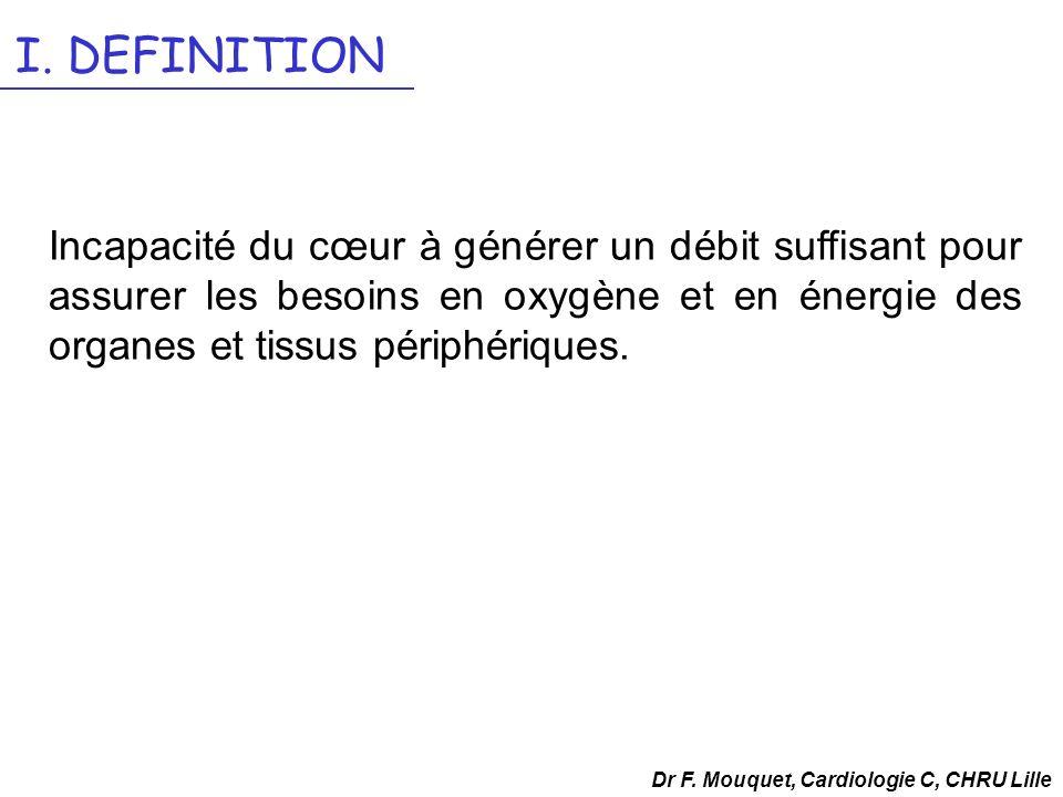 Dr F.Mouquet, Cardiologie C, CHRU Lille V.