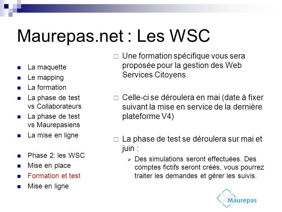 Une formation spécifique vous sera proposée pour la gestion des Web Services Citoyens. Celle-ci se déroulera en mai (date à fixer suivant la mise en s