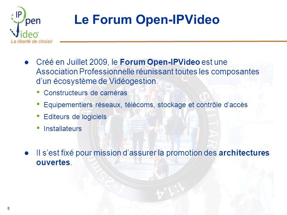 La liberté de choisir 8 Le Forum Open-IPVideo Créé en Juillet 2009, le Forum Open-IPVideo est une Association Professionnelle réunissant toutes les co