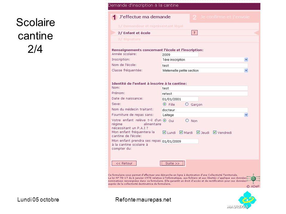 Lundi 05 octobreRefonte maurepas.net Scolaire cantine 2/4