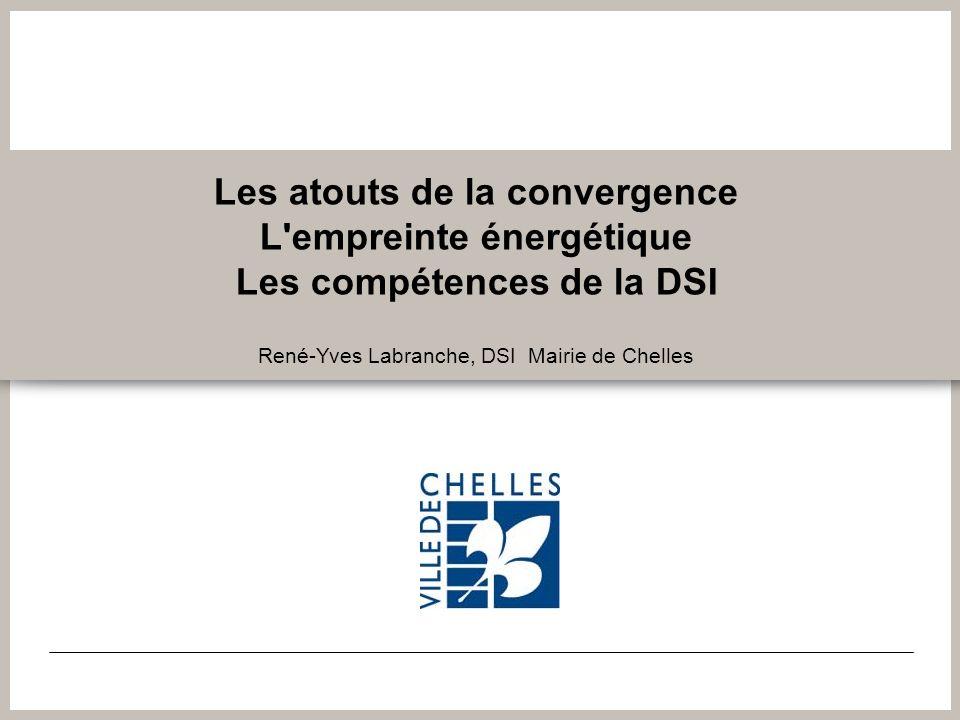 Les atouts de la convergence L'empreinte énergétique Les compétences de la DSI René-Yves Labranche, DSI Mairie de Chelles
