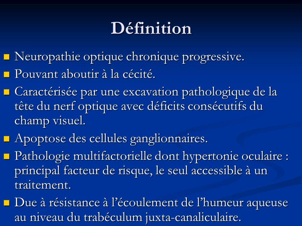 Définition Neuropathie optique chronique progressive. Neuropathie optique chronique progressive. Pouvant aboutir à la cécité. Pouvant aboutir à la céc