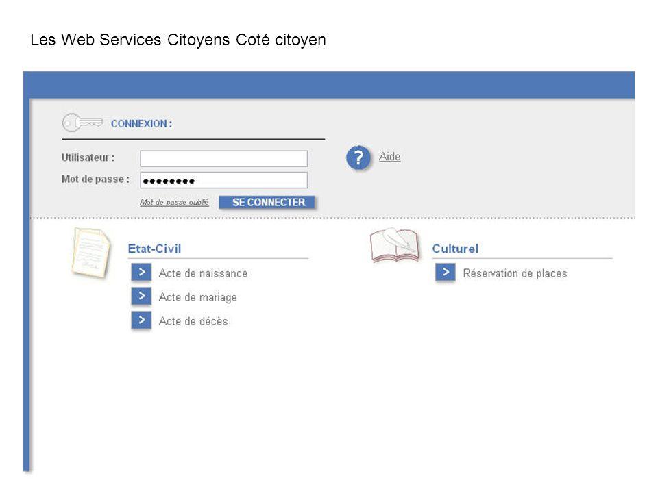 Les Web Services Citoyens Coté citoyen
