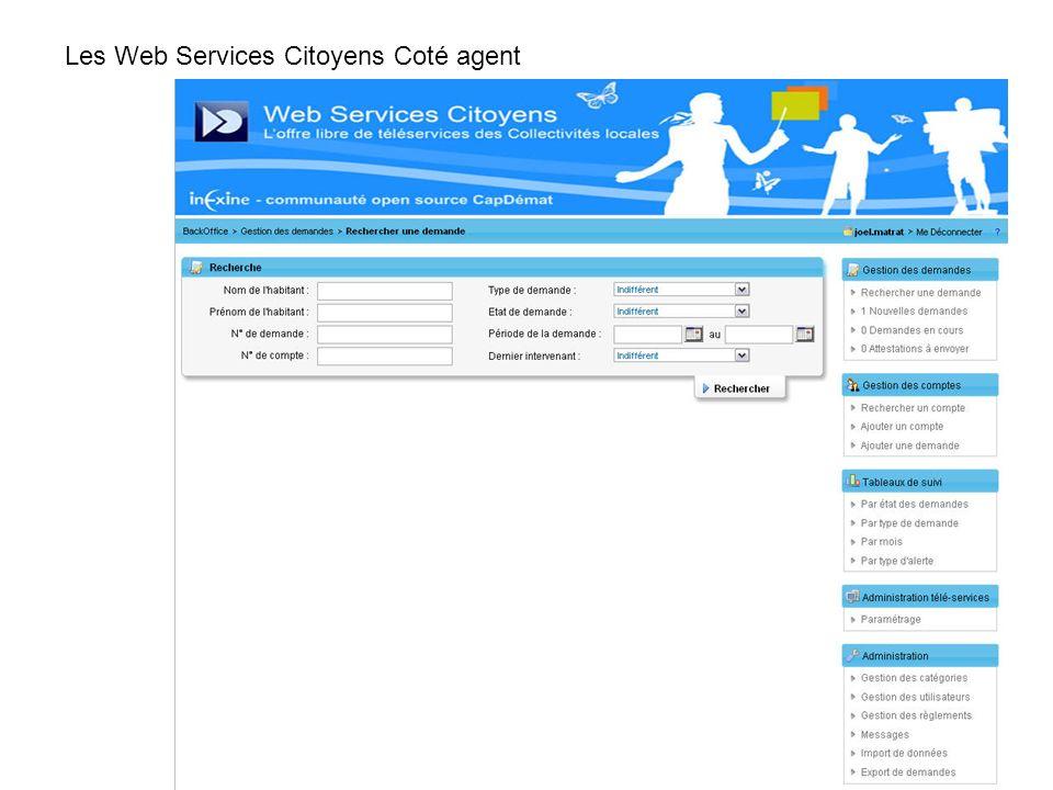 Les Web Services Citoyens Coté agent