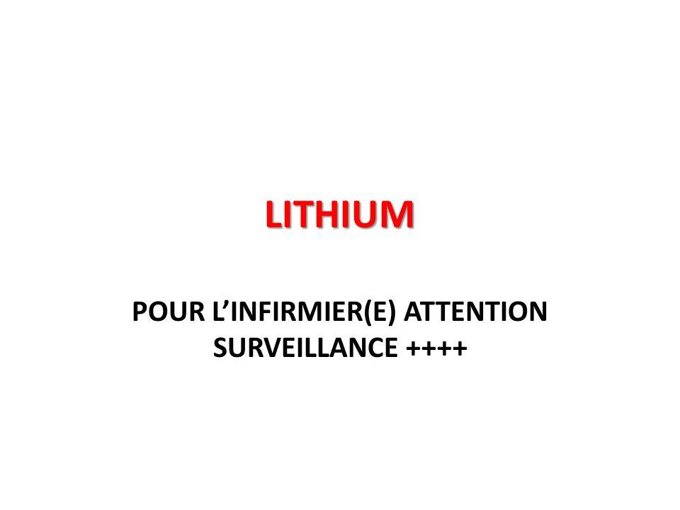 LITHIUM POUR LINFIRMIER(E) ATTENTION SURVEILLANCE ++++