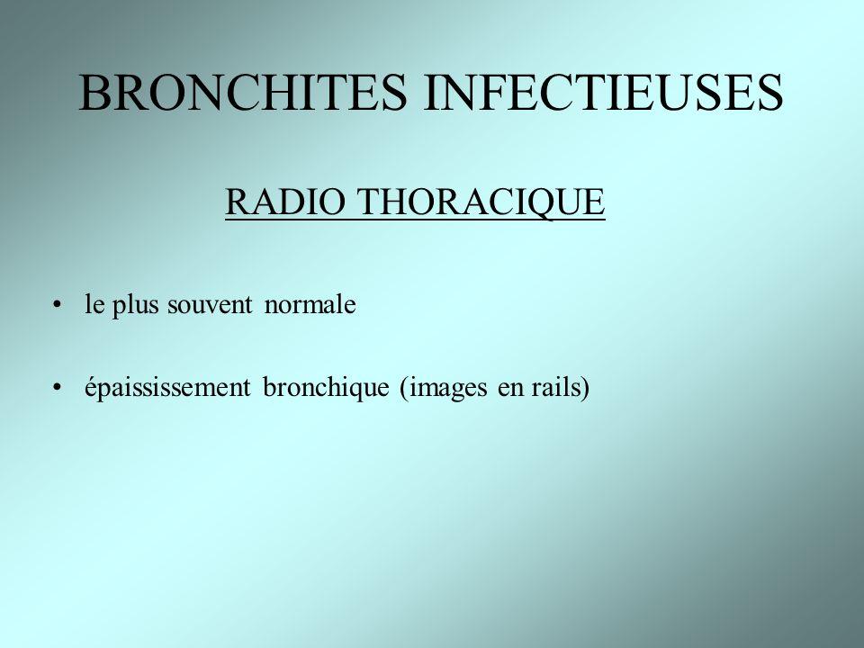 Autres pneumopathies bactériennes (ex :Tuberculose) Pneumopathies mycotiques = champignons (Candida, Aspergillus, …) et parasitaires ( toxoplasmose, Pneumocystis Carinii …) Abcés : germes anaérobies +++ ( rechercher des foyers ORL et dentaires ), penser à lendocardite +++