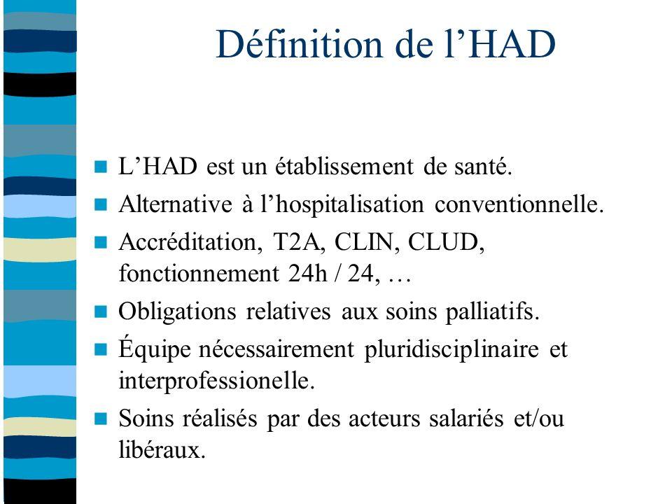 Définition de lHAD LHAD est un établissement de santé.