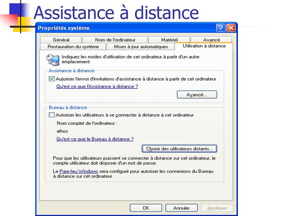 Assistance à distance Opérations complémentaires : Lorsque la connexion entre les deux ordinateurs est établie, vous pouvez effectuer différentes opérations : - Dialoguer oralement avec votre ami : Pour cela vous devez être équipés tous les deux d un microphone et cliquez sur le bouton commencer à parler .