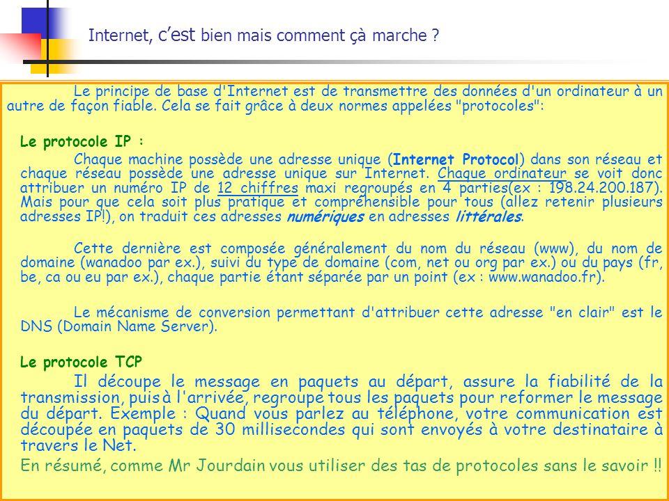 Les volets dInternet Explorer II.Favoris II.3 Gérer Favoris/Organiser les favoris.