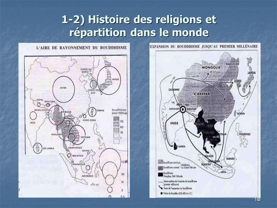 18 1-2) Histoire des religions et répartition dans le monde