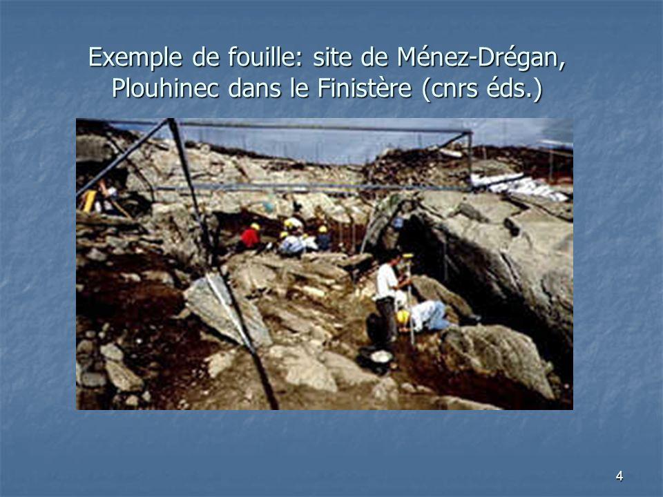 4 Exemple de fouille: site de Ménez-Drégan, Plouhinec dans le Finistère (cnrs éds.)