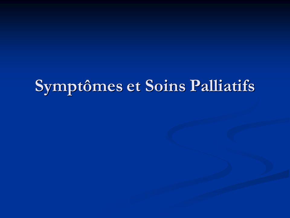 Symptômes et Soins Palliatifs