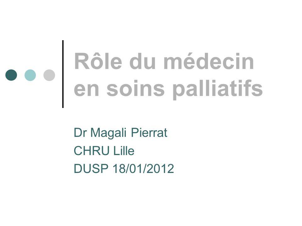 Rôle du médecin en soins palliatifs Dr Magali Pierrat CHRU Lille DUSP 18/01/2012