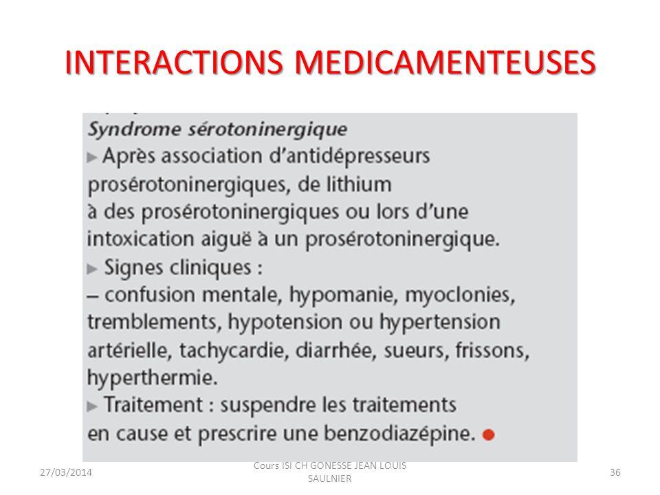 INTERACTIONS MEDICAMENTEUSES ou ALIMENTAIRES Augmentation des effets secondaires commun (sédation, hypotension, anticholinergie..