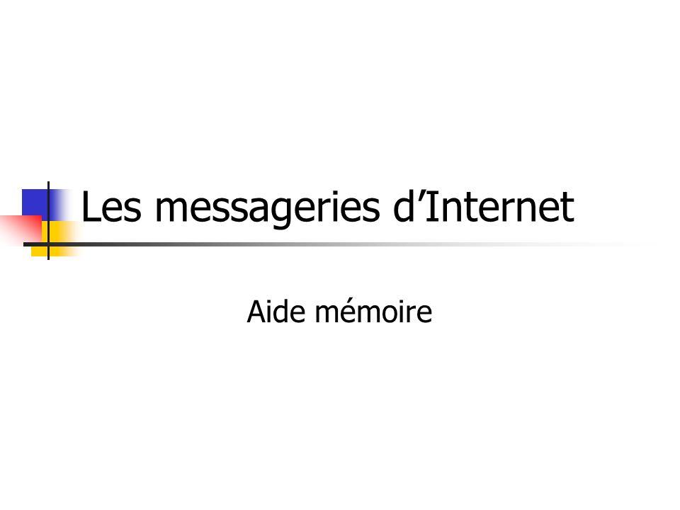 Les messageries dInternet Aide mémoire