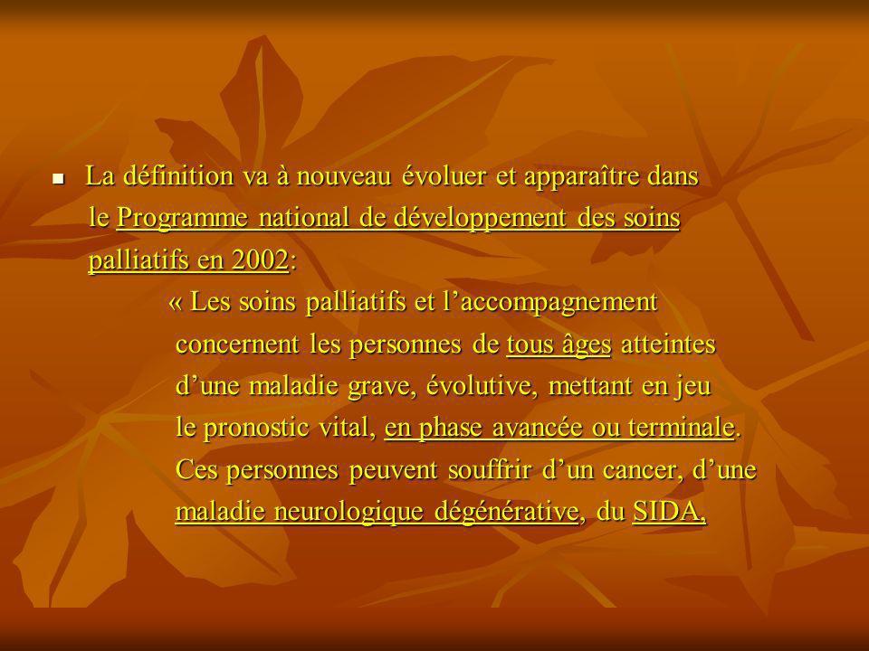 La définition va à nouveau évoluer et apparaître dans La définition va à nouveau évoluer et apparaître dans le Programme national de développement des