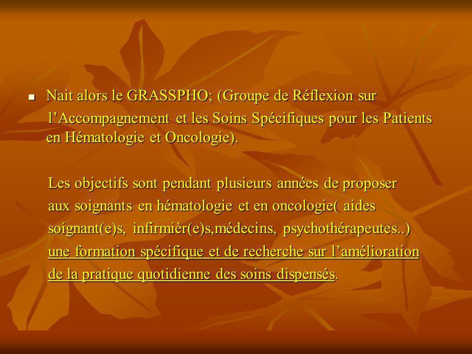 Nait alors le GRASSPHO; (Groupe de Réflexion sur Nait alors le GRASSPHO; (Groupe de Réflexion sur lAccompagnement et les Soins Spécifiques pour les Pa