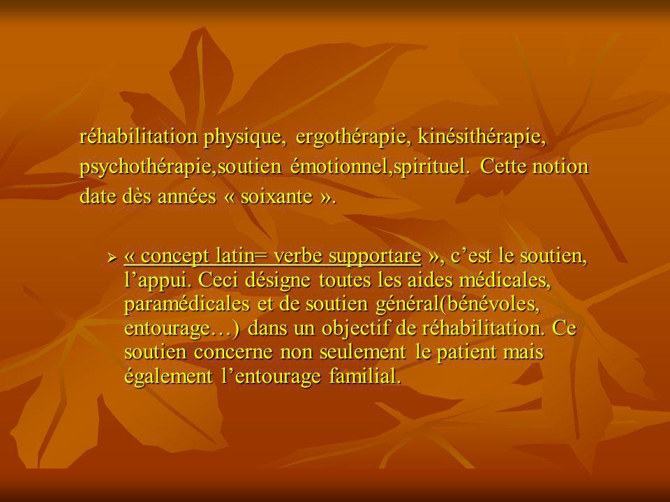réhabilitation physique, ergothérapie, kinésithérapie, réhabilitation physique, ergothérapie, kinésithérapie, psychothérapie,soutien émotionnel,spirit
