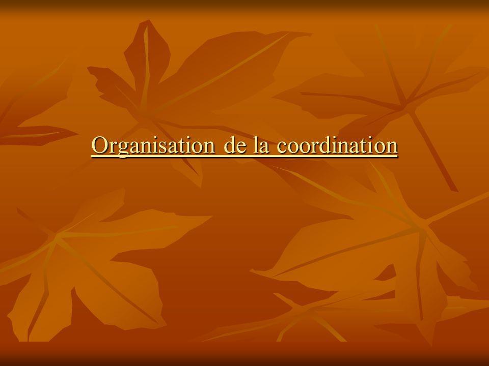 Organisation de la coordination