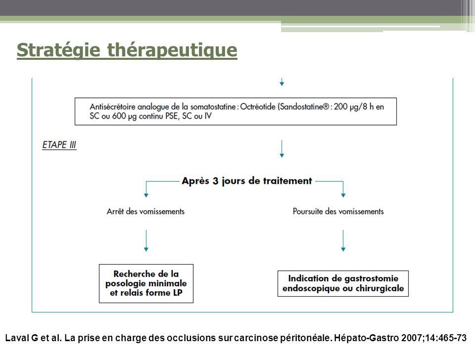 Laval G et al.La prise en charge des occlusions sur carcinose péritonéale.