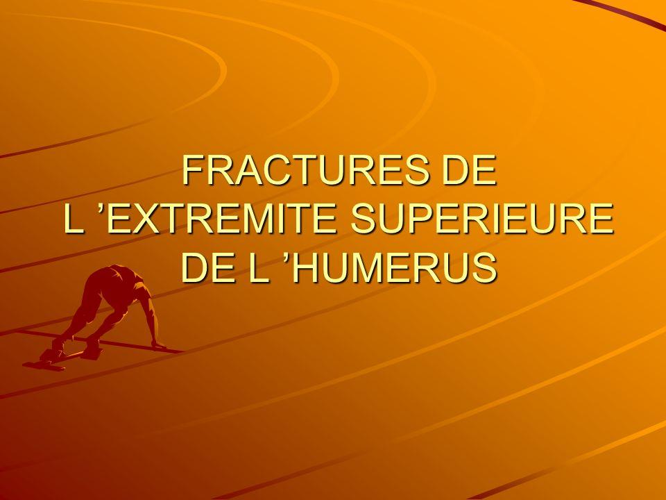 FRACTURES DE L EXTREMITE SUPERIEURE DE L HUMERUS