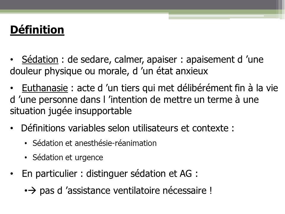 Eléments de réflexion autour de la sédation Risque de confusion sédation/euthanasie .