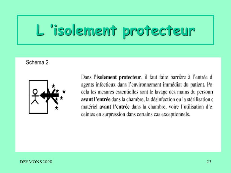 DESMONS 200823 L isolement protecteur