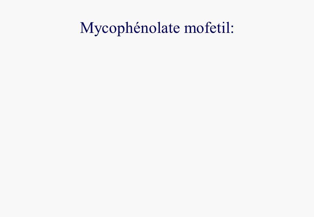 Mycophénolate mofetil: