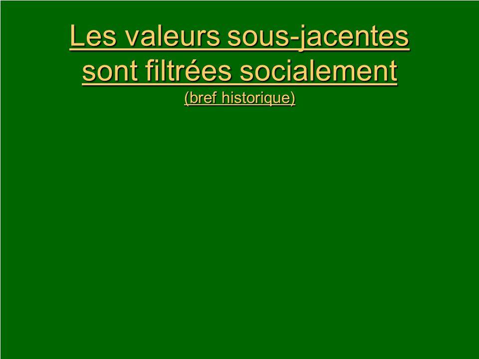 Les valeurs sous-jacentes sont filtrées socialement (bref historique)