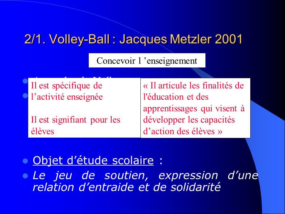 Approche du Volley pour… …répondre à des visées éducatives comme «apprendre à vivre ensemble, devenir plus autonome et plus responsable ». (élément de