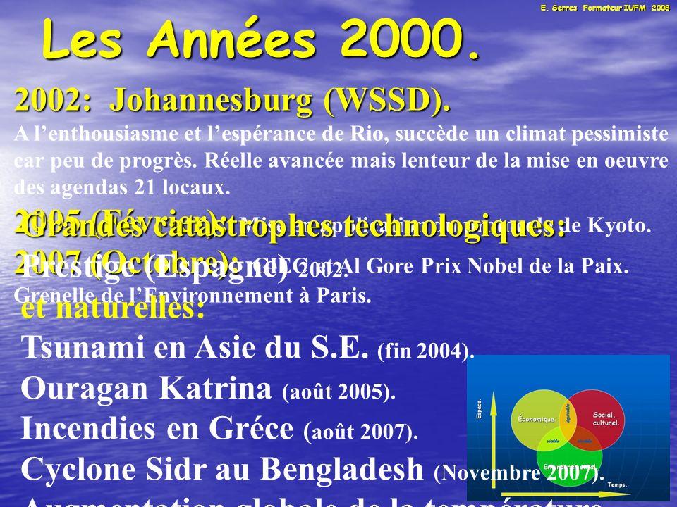 13 Les Années 2000. 2002: Johannesburg (WSSD).