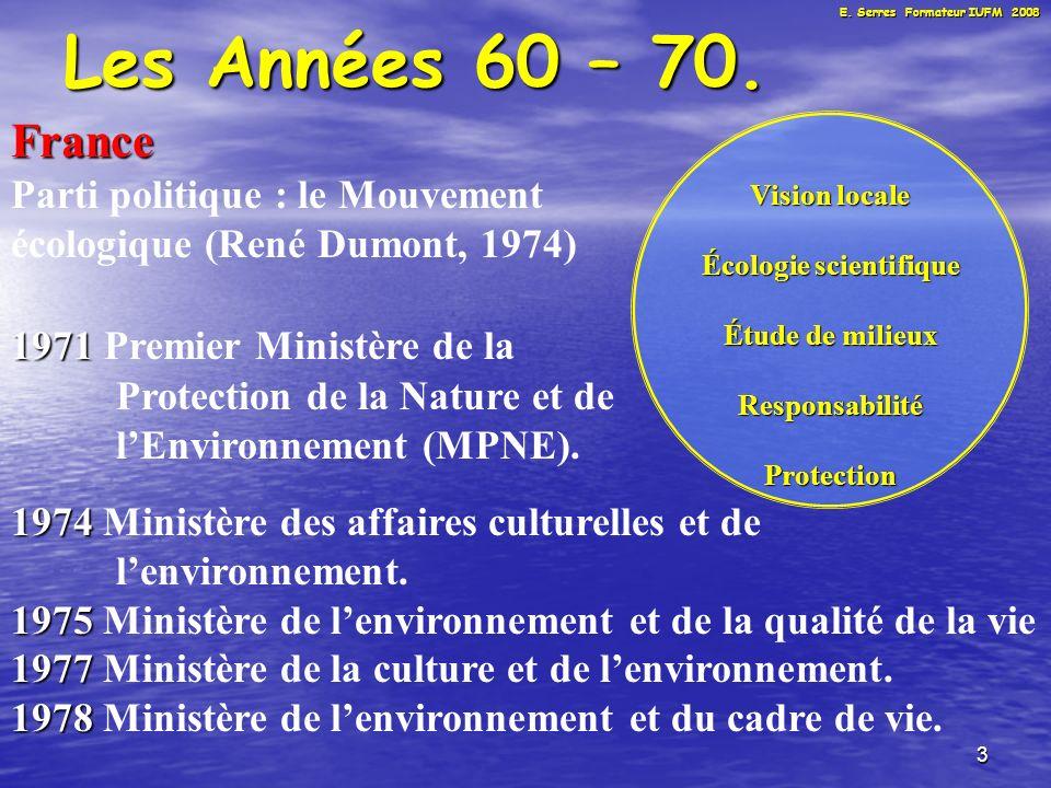 4 Les Années 60 – 70.France 1971 1971 Protocole daccord entre MEN et MPNE.