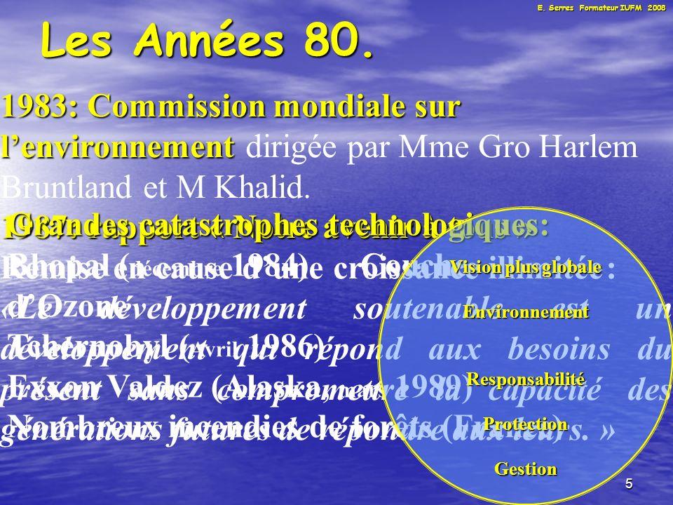 6 Les Années 80.France Ministère de lenvironnement et du cadre de vie.
