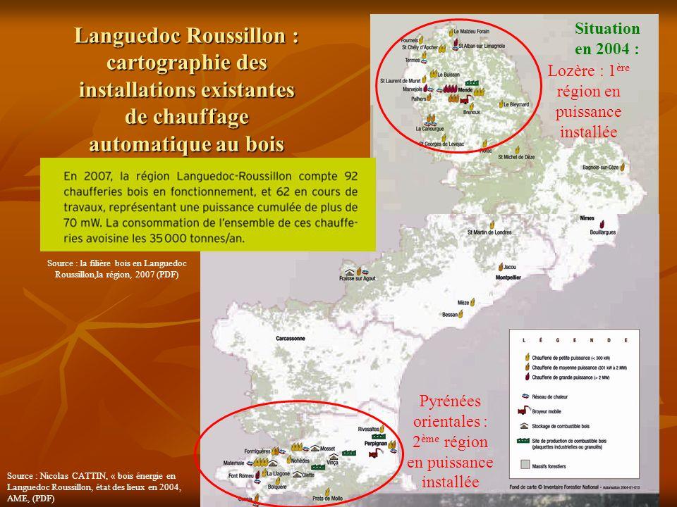 Jeanne POUJOL, formatrice I.U.F.M. 3 Languedoc Roussillon : cartographie des installations existantes de chauffage automatique au bois Situation en 20