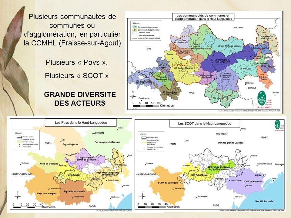 Jeanne POUJOL, formatrice IUFM, histoire- géographie Plusieurs communautés de communes ou dagglomération, en particulier la CCMHL (Fraisse-sur-Agout)