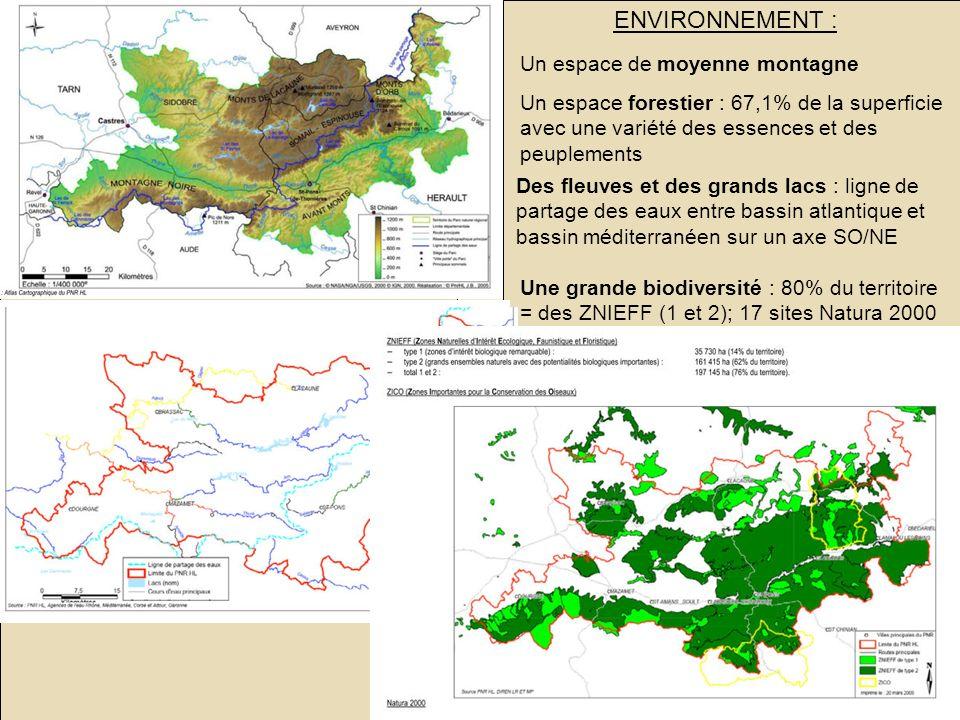 Jeanne POUJOL, formatrice IUFM, histoire- géographie Le PNR du haut Languedoc : un territoire rural en mutation SOCIETE : ENVIRONNEMENT : ECONOMIE : F