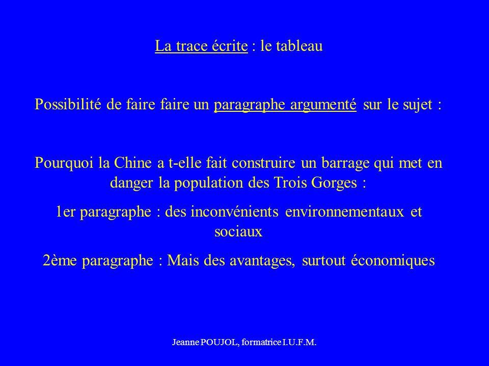 Jeanne POUJOL, formatrice I.U.F.M.