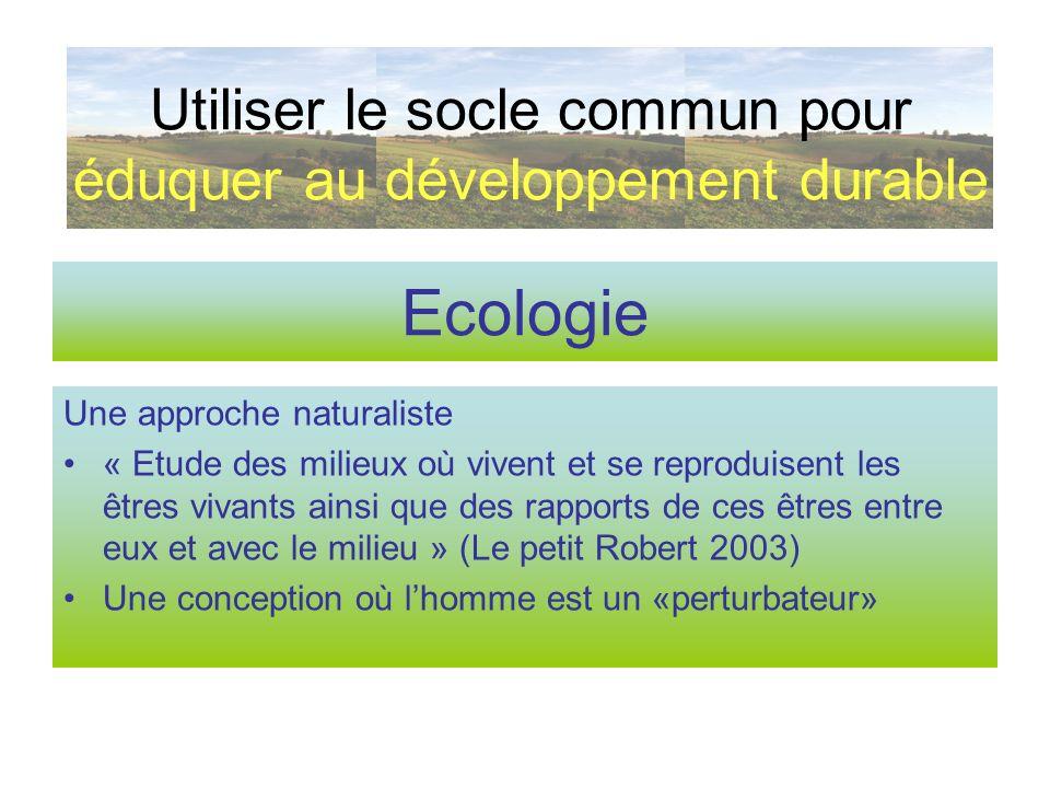 Ecologie Une approche naturaliste « Etude des milieux où vivent et se reproduisent les êtres vivants ainsi que des rapports de ces êtres entre eux et