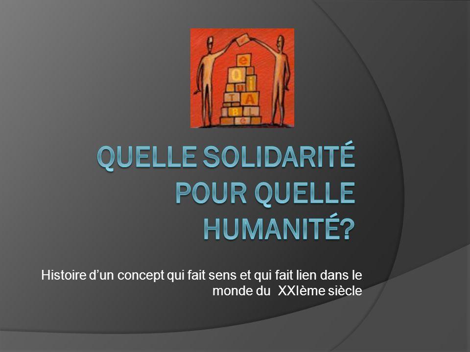 La solidarité Une posture dempathie.Une valeur. Une obligation juridique.
