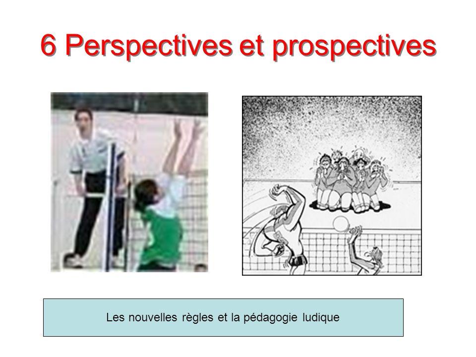 6 Perspectives et prospectives Les nouvelles règles et la pédagogie ludique
