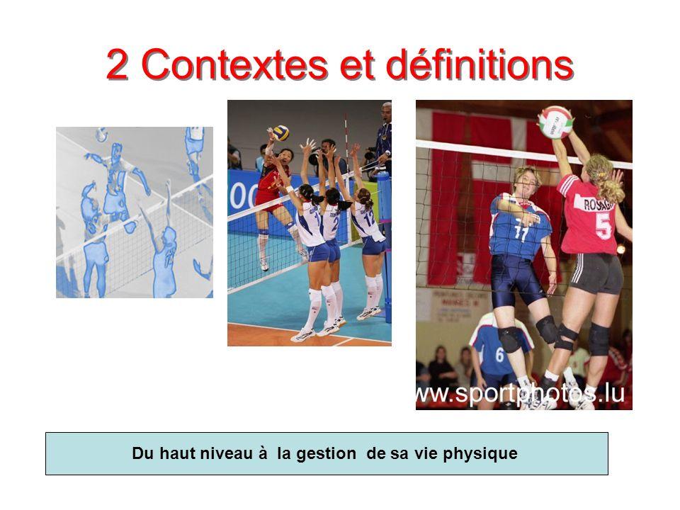 2 Contextes et définitions Du haut niveau à la gestion de sa vie physique