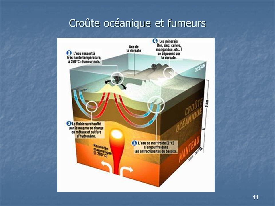 11 Croûte océanique et fumeurs