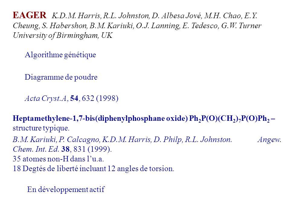 EAGER K.D.M. Harris, R.L. Johnston, D. Albesa Jové, M.H. Chao, E.Y. Cheung, S. Habershon, B.M. Kariuki, O.J. Lanning, E. Tedesco, G.W. Turner Universi