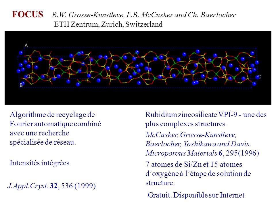Algorithme de recyclage de Fourier automatique combiné avec une recherche spécialisée de réseau. Gratuit. Disponible sur Internet FOCUS R.W. Grosse-Ku